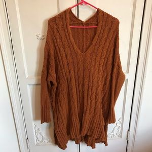 Free People Cable Chunky Sweater